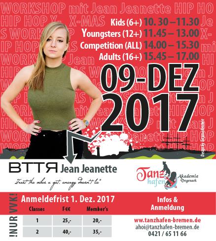 Tanzhafen - 9.Dezember Workshop mit Jean Jeanette