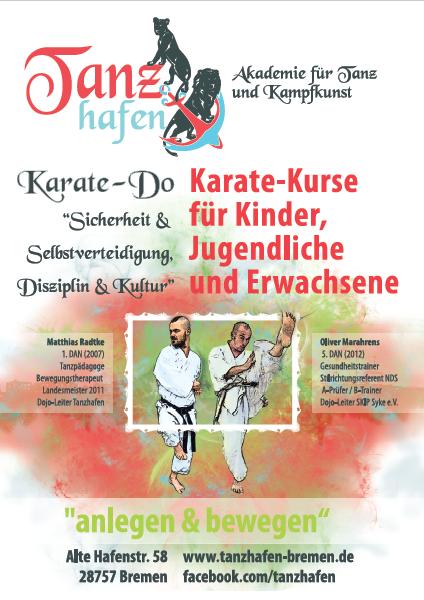 Flyer zum Karate Angebot vom Tanzhafen Bremen